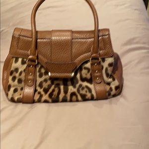 Authentic leopard leather purse
